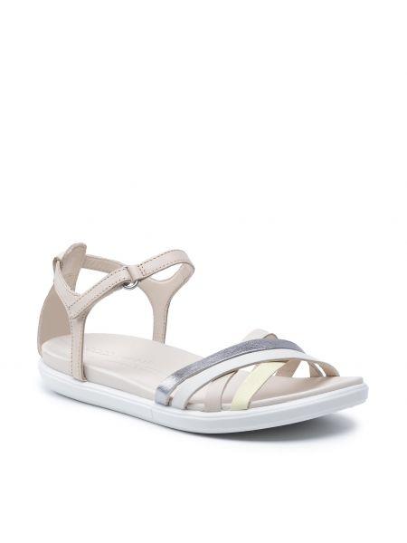 Sandały skórzane - beżowe Ecco