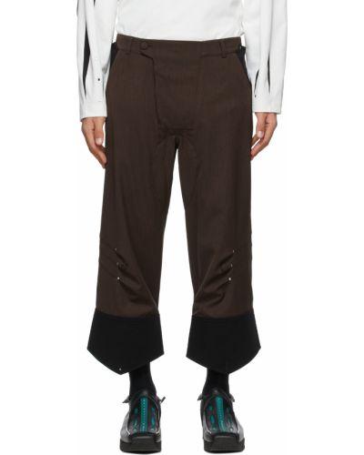 Czarne spodnie z paskiem srebrne Kiko Kostadinov