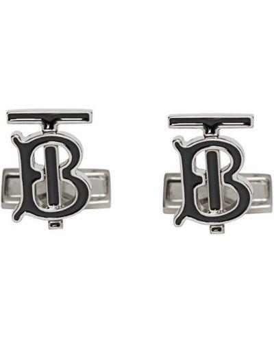 Запонки черные серебряный Burberry