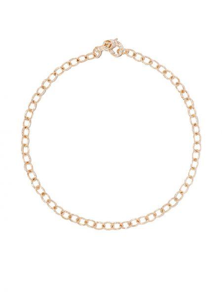 Золотистый желтый золотой браслет с бриллиантом Loree Rodkin