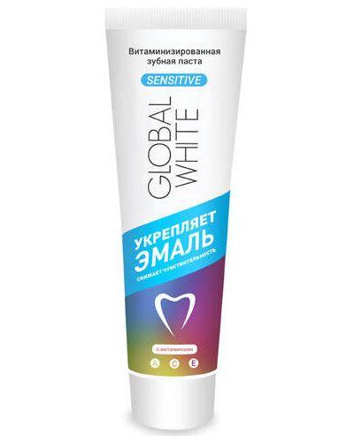 Зубная паста укрепляющий белая Global White