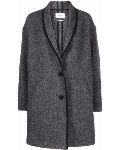 Серое длинное пальто Isabel Marant étoile