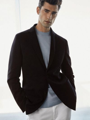 Синий пиджак Massimo Dutti