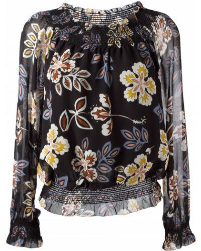 Блузка с цветочным принтом шелковая Tory Burch