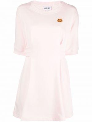 Хлопковое платье - розовое Kenzo