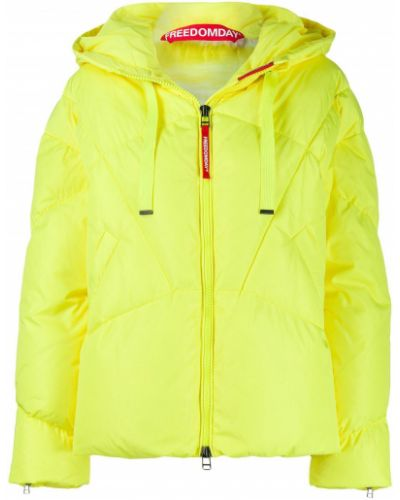 Прямая желтая стеганая куртка Freedomday