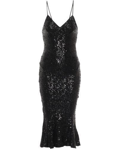 Черное платье миди Norma Kamali