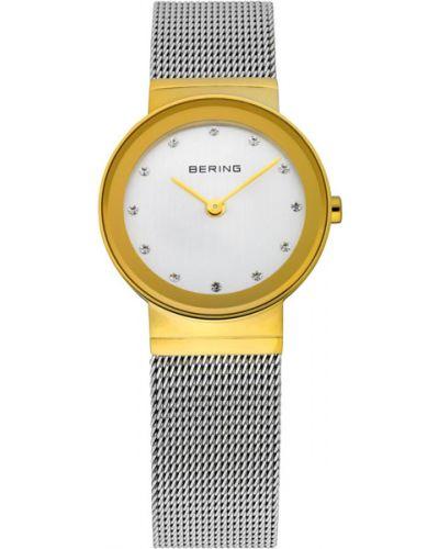 Кварцевые часы водонепроницаемые с камнями Bering