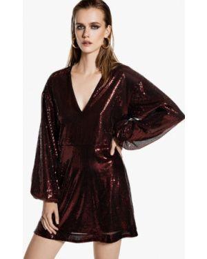 Вечернее платье бордовый красный Ivyrevel