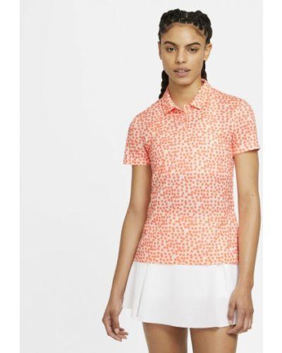 Pomarańczowy t-shirt z printem na co dzień Nike