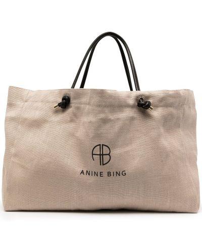 Коричневая сумка с логотипом Anine Bing