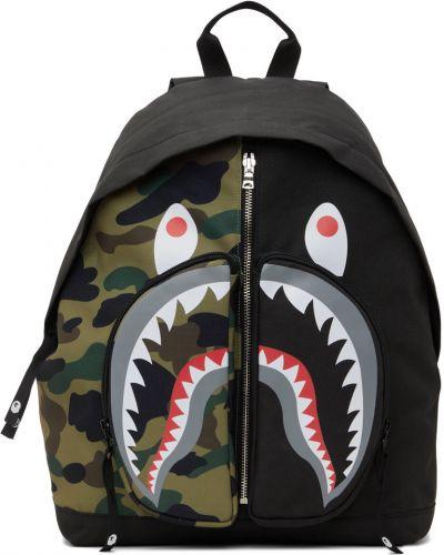 Черный рюкзак из канваса Bape