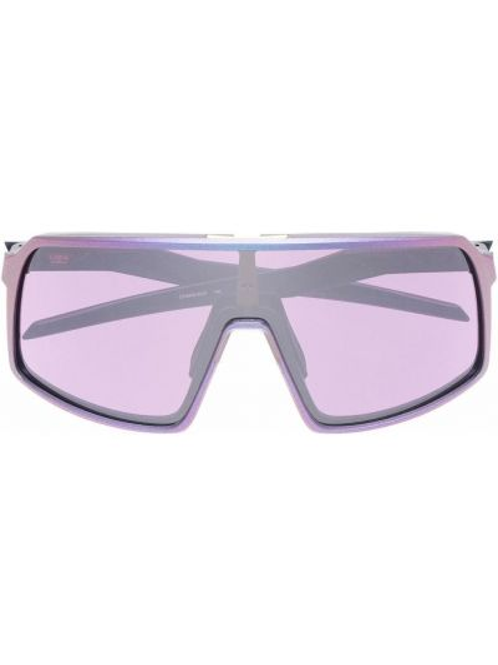 Okulary srebrne - fioletowe Oakley