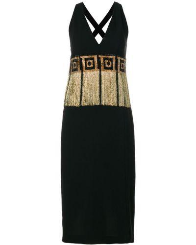 Платье с бахромой из вискозы Versace Collection