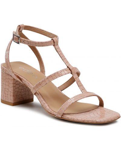 Różowe sandały casual Edeo