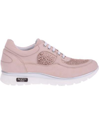 Розовые кроссовки из нубука Baldinini