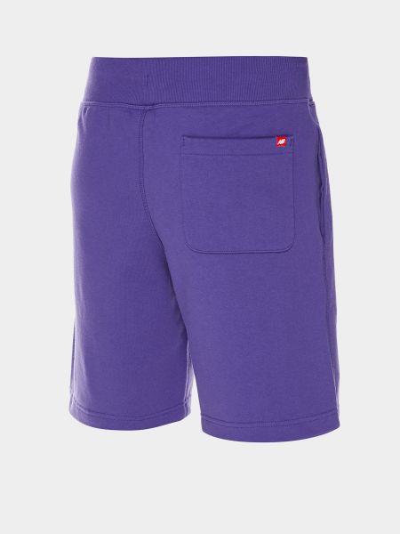 Фиолетовые хлопковые шорты с карманами New Balance