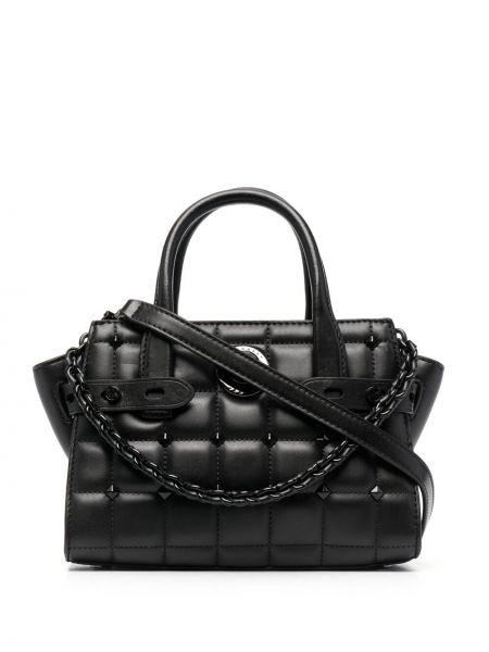 Стеганая черная сумка на цепочке с заклепками Michael Michael Kors