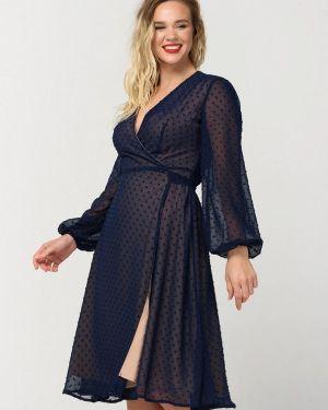 Платье с запахом осеннее Ricamare