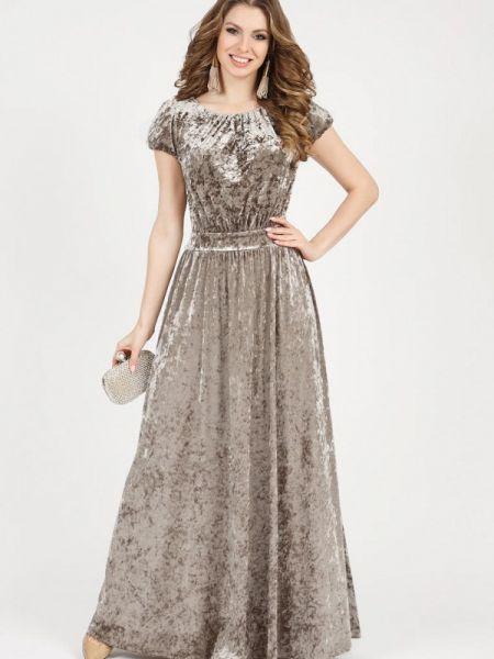 Вечернее платье осеннее бежевое Olivegrey