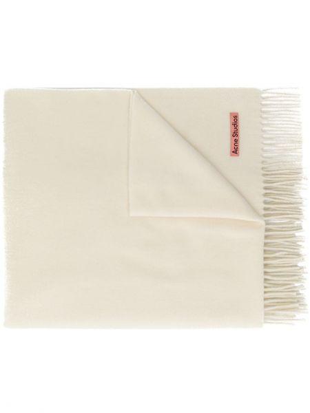 Wełniany biały trykotowy szalik przycięte Acne Studios
