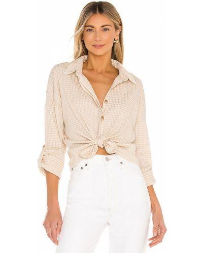 Хлопковая блузка винтажная на пуговицах Line & Dot