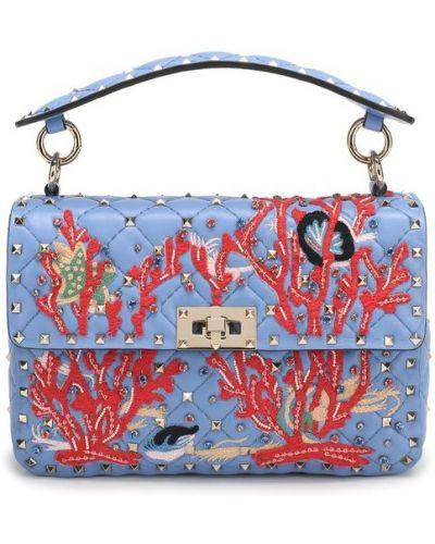 Кожаная сумка на цепочке в морском стиле Valentino