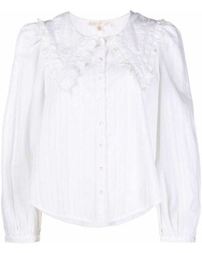 Блузка с воротником - белая Loveshackfancy