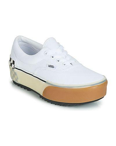 Biały buty kaskada Vans