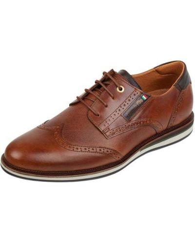 Półbuty skórzane - brązowe Pantofola D'oro