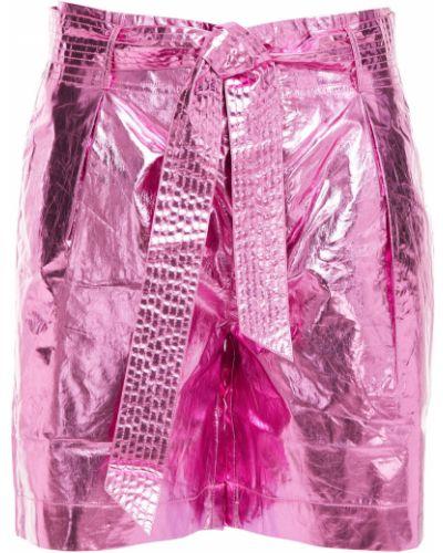 Розовые хлопковые шорты с карманами Antik Batik