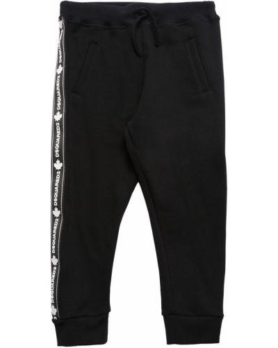 Spodnie na gumce z logo plac Dsquared2
