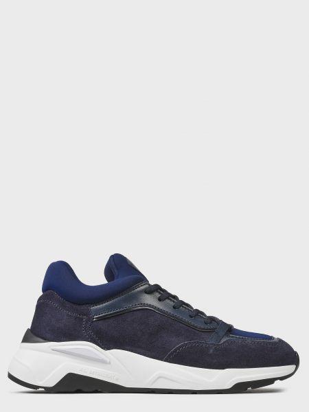 Кожаные кроссовки - синие Fabi