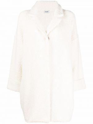 Белое длинное пальто Liu Jo