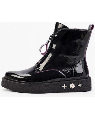 Лаковые кожаные бордовые ботинки осенние Enjoin'