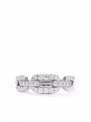 Biały pierścionek z diamentem David Yurman