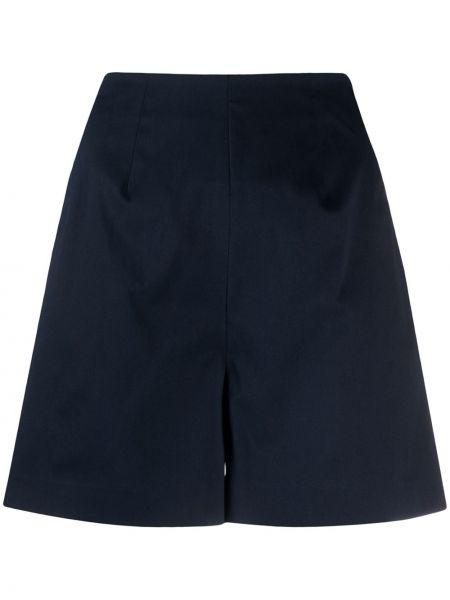 Однобортные темно-синие короткие шорты с карманами L'autre Chose