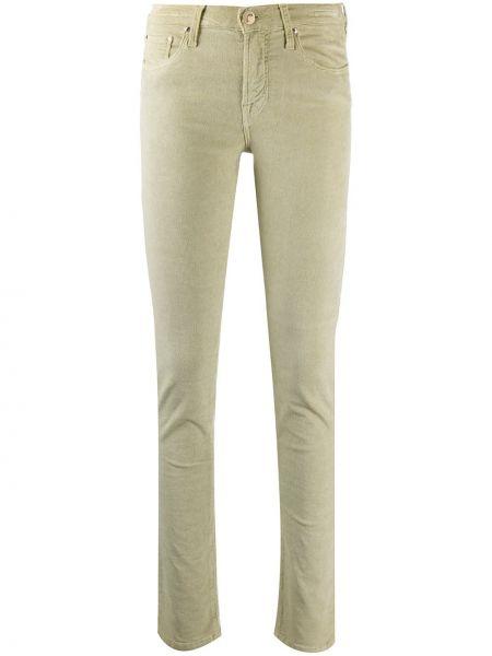 Зеленые джинсы классические с высокой посадкой с поясом Jacob Cohen