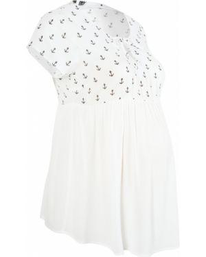 Блузка для беременных белая Bonprix