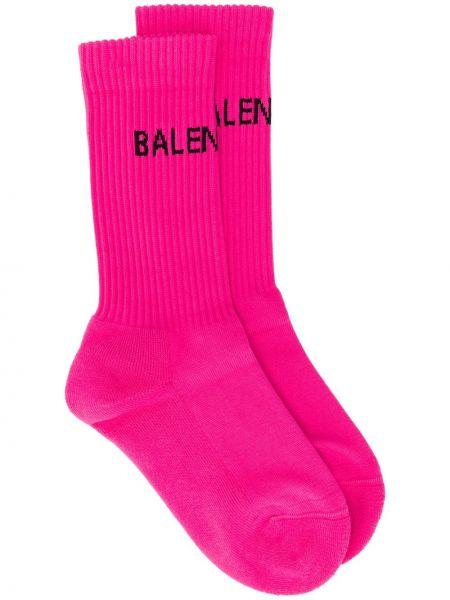 Хлопковые розовые носки эластичные Balenciaga