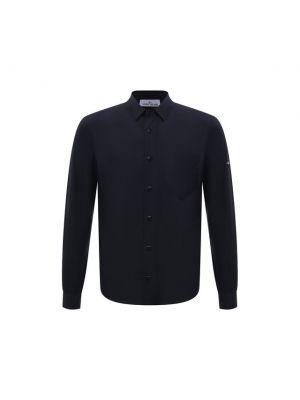 Синяя итальянская рубашка Stone Island