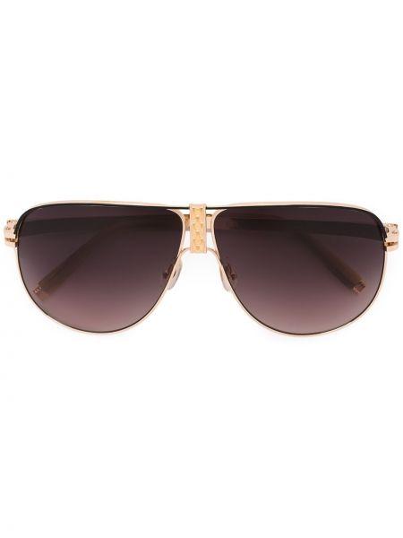 Złote okulary Sama Eyewear