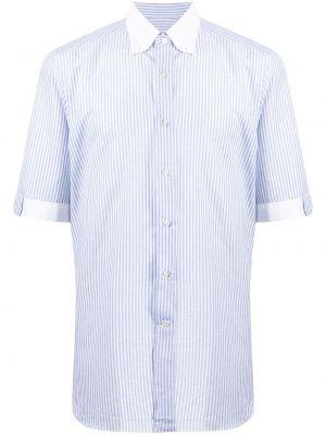 Biała koszula bawełniana krótki rękaw Stefano Ricci