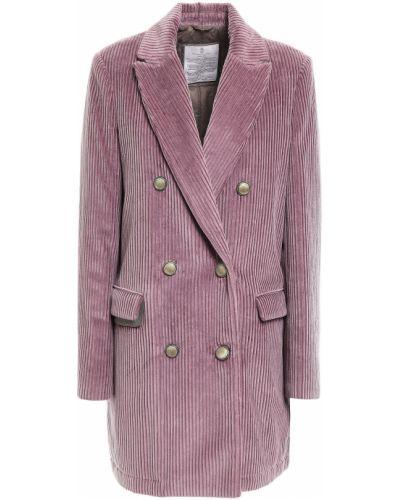 Пиджак вельветовый двубортный с карманами Brunello Cucinelli
