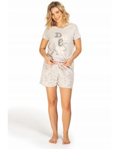 Szara piżama bawełniana krótki rękaw Envie