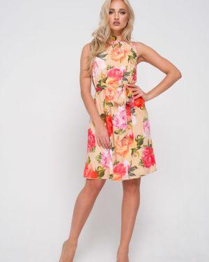 Летнее платье мини с цветочным принтом Leleya