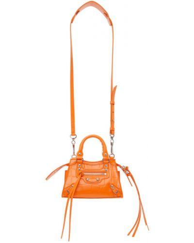 Оранжевый топ с подкладкой с заплатками Balenciaga