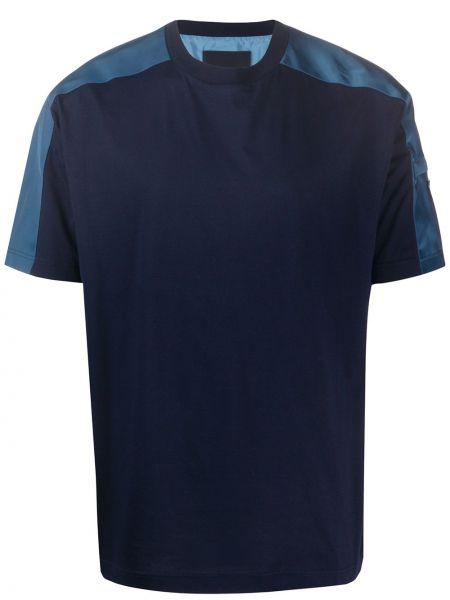 Koszula krótkie z krótkim rękawem z logo prosto Prada