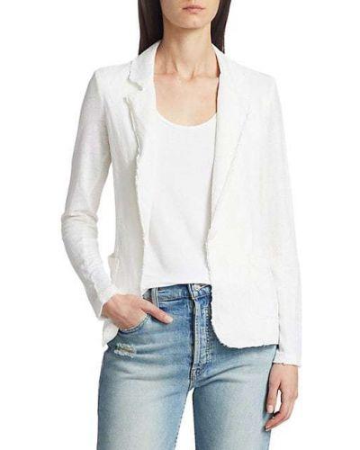 Льняной удлиненный пиджак с заплатками с накладными карманами Majestic