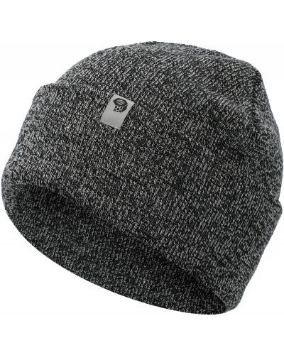 Акриловая серая теплая шапка с отворотом Mountain Hardwear